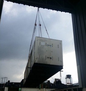 loading temporary chiller